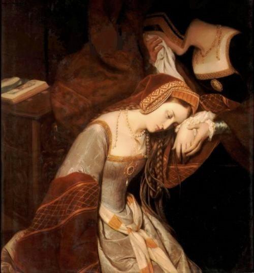 Anne Boleyn before execution