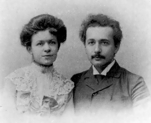 Einstein and Mileva Maric, his first wife