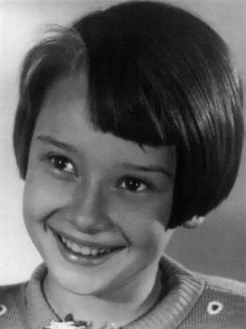 Hepburn in her childhood