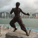 Monument to Bruce Lee in Hong Kong