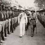 The Prince of Wales is inspecting the guard of honor. 1926