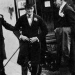 Churchill on the wedding day