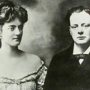 Young Churchill and Clementine