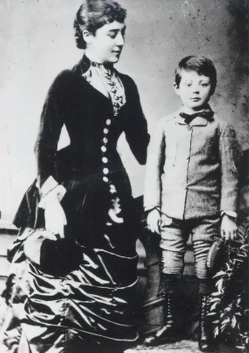 Churchill and his mother