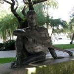 The monument to Lennon in La Coruna