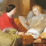 Constanze and Mozart working on Requiem on his deathbed