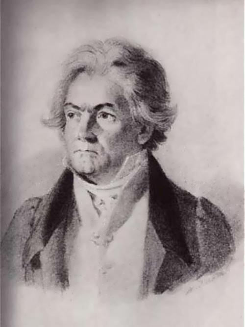 Johann Stefan Decker. Beethoven, 1823