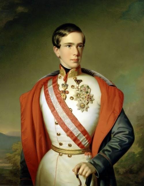 The young Emperor Franz Joseph