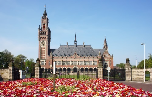 The Peace Palace in the Netherlands