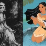 Animated Pocahontas and one of the alleged portraits of her prototype