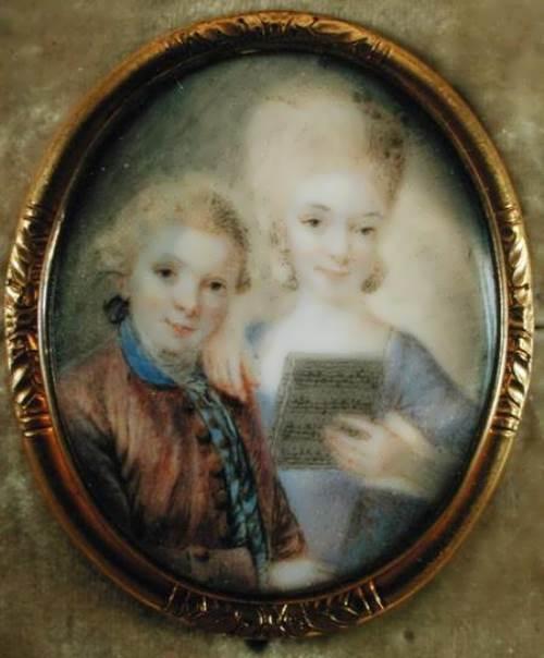 Eusebius Johann Alphen. Mozart and his elder sister, 1765