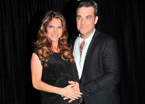 Robbie and his wife Ayda Field