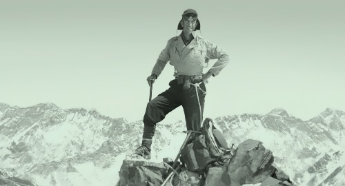 Edmund Hillary – first man to climb Mount Everest