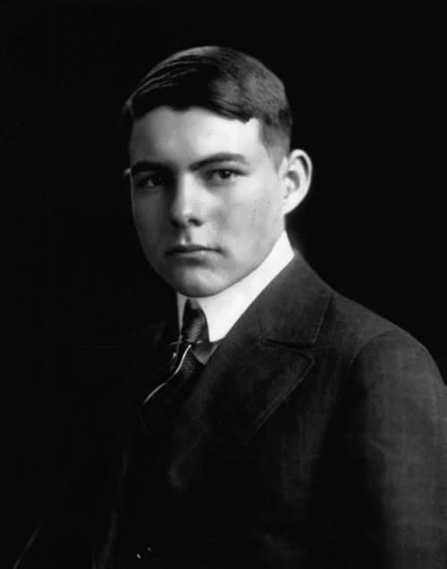 Ernest Hemingway. February 15, 1916