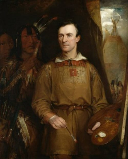 George Catlin. Self-portrait