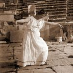 Duncan is dancing in the theater of Dionysus, Athens, 1903
