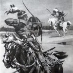 Illustration to the book of Cooper