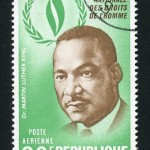 Stamp with the portrait of Martin Luther King