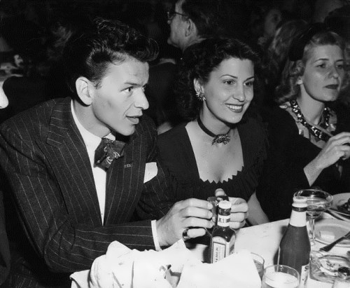 Frank Sinatra and his first wife Nancy Barbato, 1940