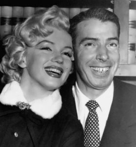 Monroe and Joe DiMaggio. They were married from 1953 to 1954