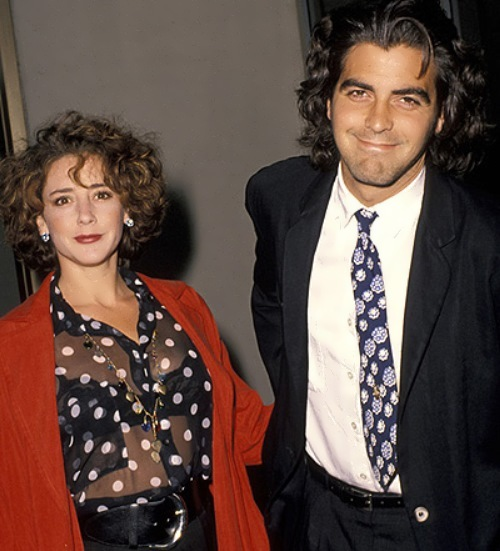 Clooney and Talia Balsam