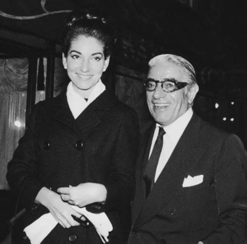 Maria Callas and Aristotle Onassis, 1960