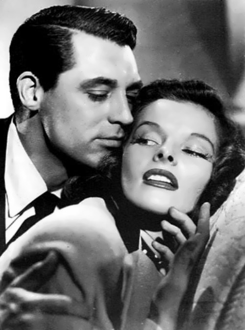 Hepburn and Cary Grant