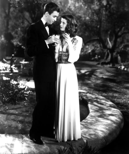 Hepburn and James Stewart, The Philadelphia Story, 1940