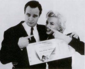Monroe and Marlon Brando. Dated from 1955 to 1962