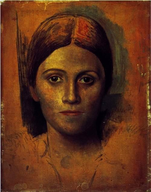 Portrait of Olga Khokhlova. 1918