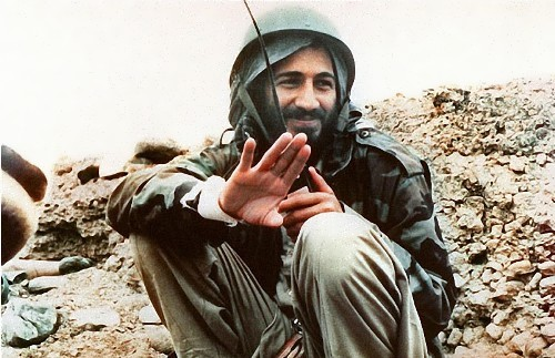 Osama bin Laden in Afghanistan during the war against the Soviet Union, 1989
