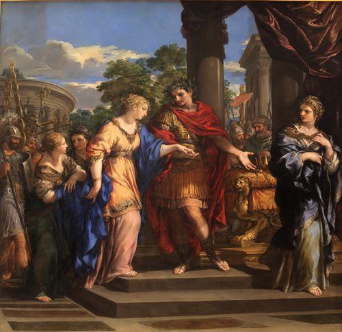 Caesar giving Cleopatra the Throne of Egypt. Pietro de Cortone