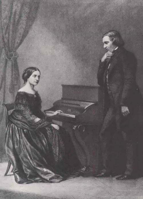 Clara Wieck and Robert Schumann