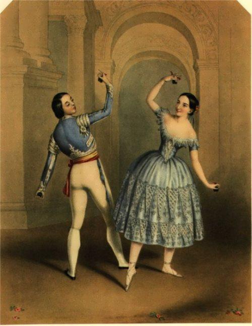 Fanny Elssler and Jules Perrot in La Castilliana Bolero