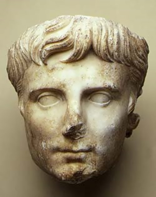 Head of Emperor Augustus. Marble. Beginning of the I century