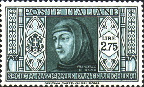 Stamp dedicated to Petrarch