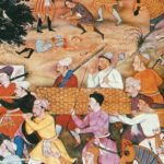 Funeral of Genghis Khan. Picture from the Indian medieval manuscript