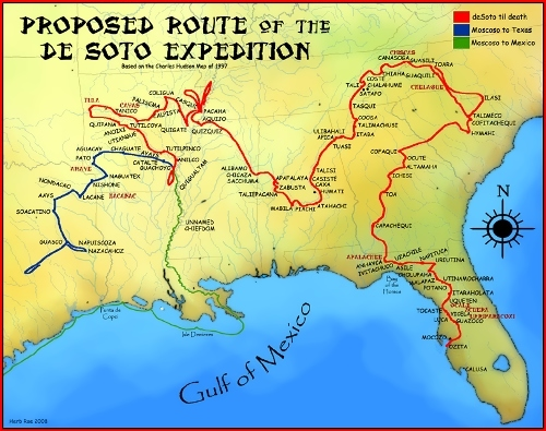 Route of the de Soto expedition