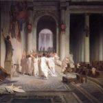 Jean-Leon Gerome. The murder of Caesar. 1867