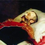 K.E. Makovsky. Portrait of Alexander II on his deathbed, 1881