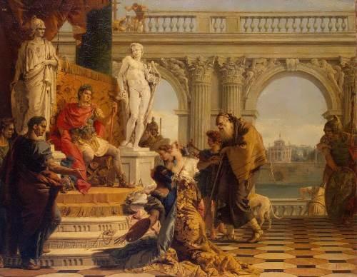 Tiepolo. Maecenas Presenting the Liberal Arts to Emperor Augustus