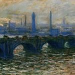 Waterloo Bridge. This painting was probably burned by thief