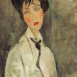 Woman with a Black Tie, 1917, Fujikawa Galleries