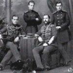 Emperor Alexander II with his sons Alexander, Vladimir and Alexei