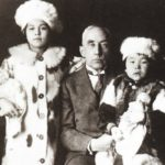 Amundsen with adopted daughters