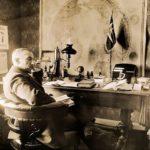 Roald Amundsen in his office