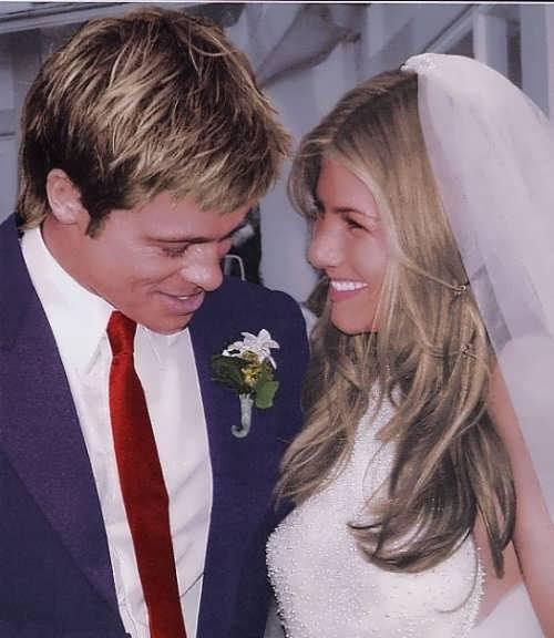 Jennifer and Brad Pitt