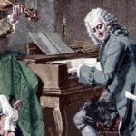 Johann Sebastian is playing the clavier