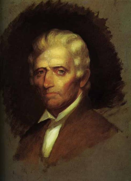 Unfinished portrait of Daniel Boone by Chester Harding, 1820
