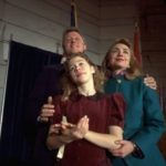 Governor of Arkansas, his wife, Hillary Rodham Clinton and their daughter Chelsea during the inauguration in Little Rock, Arkansas, September 20, 1991
